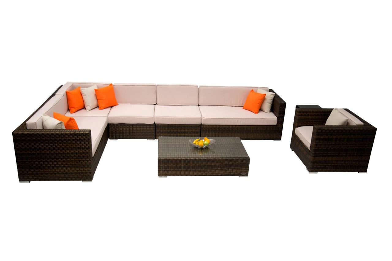 Outdoor Lounge Modular Setting Patio Furniture Large Sofa Lounge Ebay
