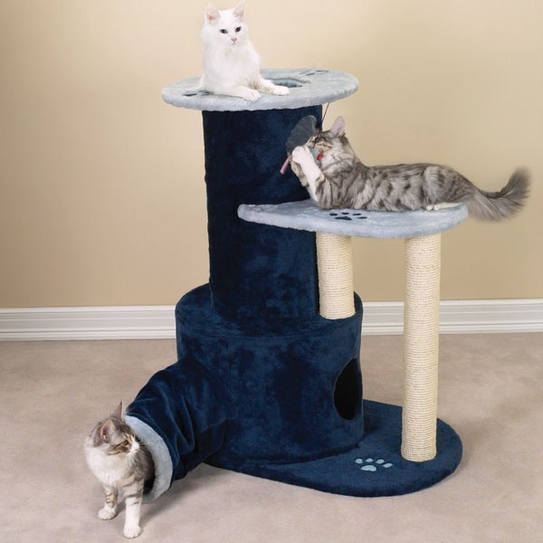 savvy tabby tunnel tower perch cat play furniture ebay. Black Bedroom Furniture Sets. Home Design Ideas