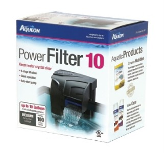 Aqueon quiet flow 10 aquarium fish tank power filter for Quiet fish tank filter