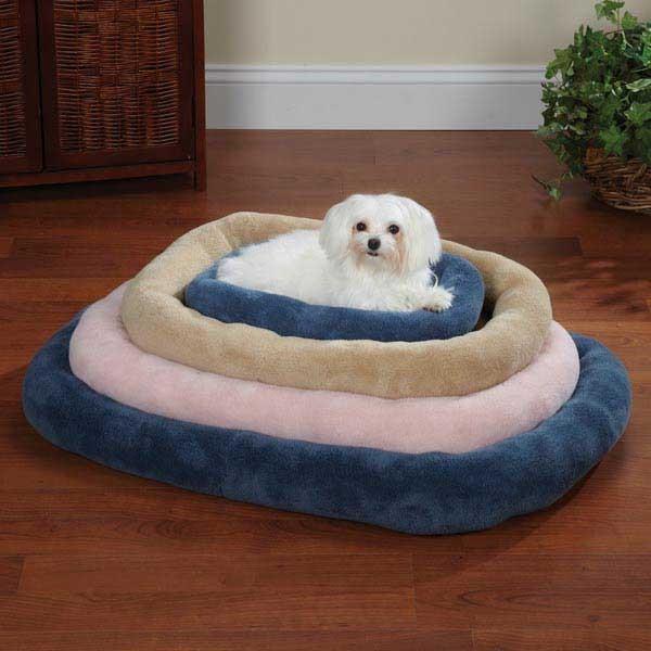 Slumber-Pet-Comfy-Ultra-Soft-Plush-Terry-Crate-Dog-Pet-Bed-Tan
