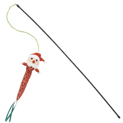 Savvy tabby holiday sparkle teaser wand cat toy ebay for Cat wand toys