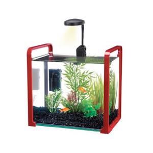 Penn plax parallel 2 5 gallon aquarium fish tank kit red for 2 gallon fish tank