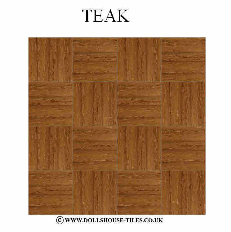 Dollhouse Miniatures Wood Flooring Woodblock Floor Tiles Inch