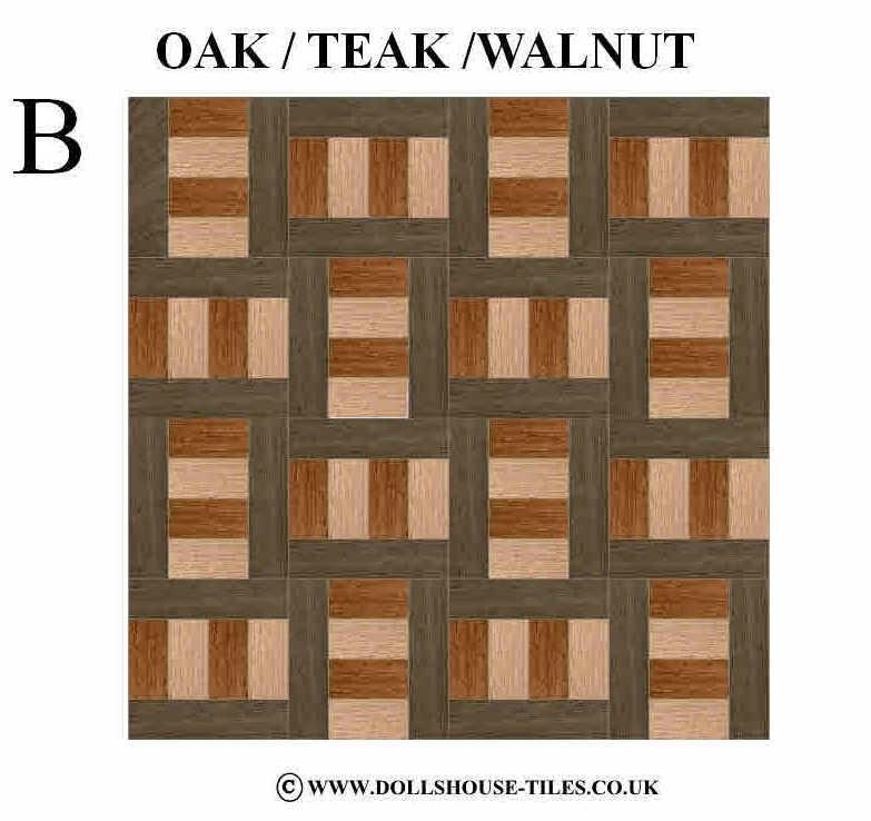 Miniature Dollhouse Tile Flooring: DOLLHOUSE MINIATURES, WOOD FLOORING, 1/12TH SCALE