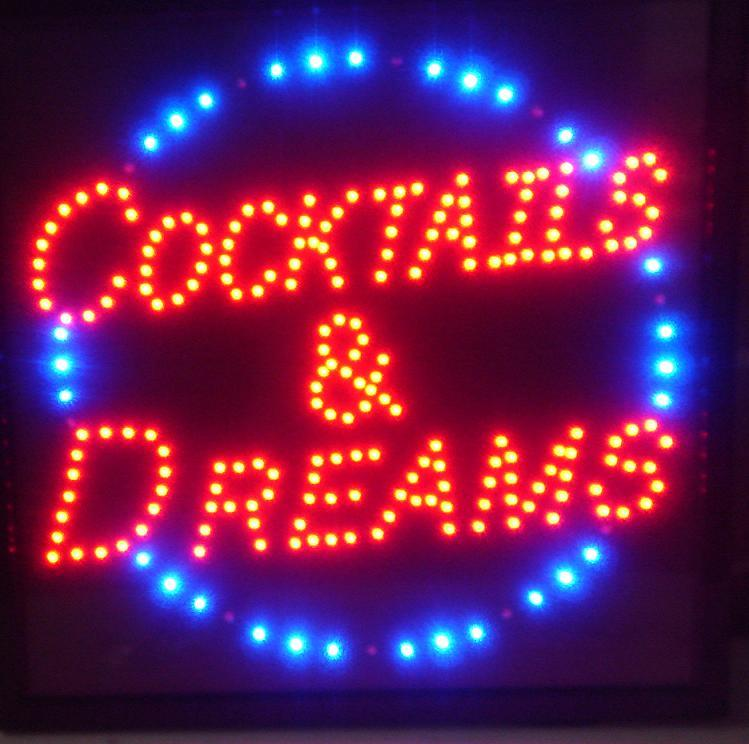 Man Cave Led Signs : New motion led signs for restaurant home bar man cave