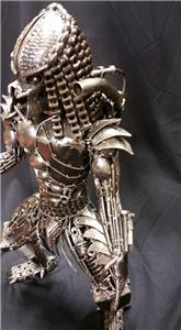 vintage hand made predator sculpture statue heavy metal ...