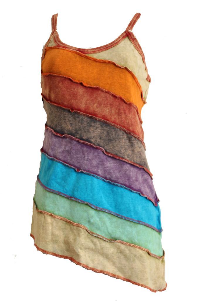 Multicolour hippy style festival ladies tops vest pure for Hippie t shirts australia