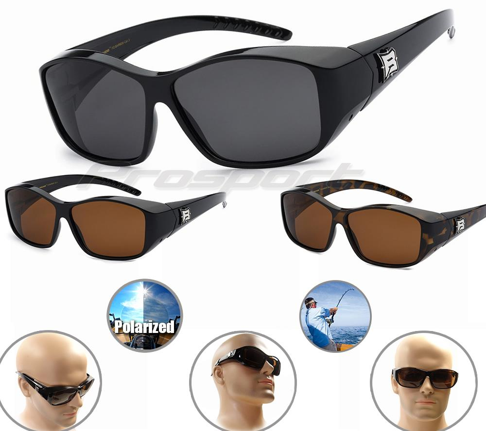 Barricade rx fit over large sunglasses polarized lens for Polarized prescription fishing sunglasses