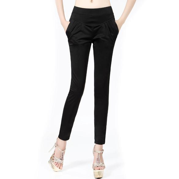 About hot womens stretch waist trousers girls pants size 8 10 12 14