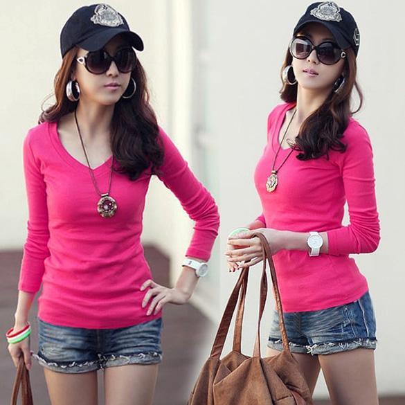 New Women/Ladies Long Sleeve T-shirt top blouse size 8,10 - SV137