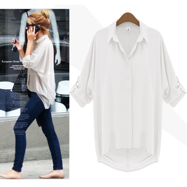 Белые Длинные Блузки