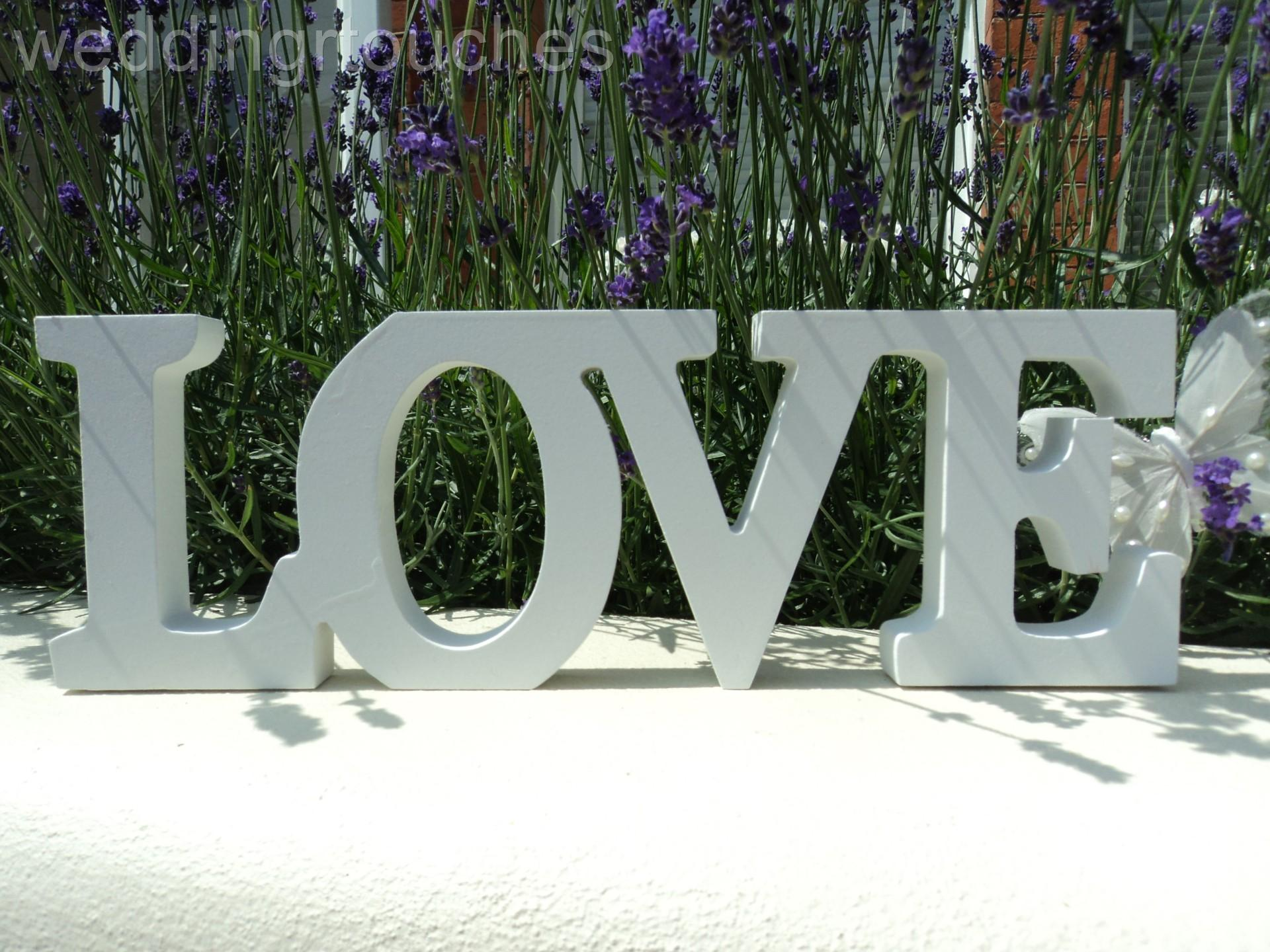 New wooden free standing love letters love words home for Furniture 5 letters word whizzle