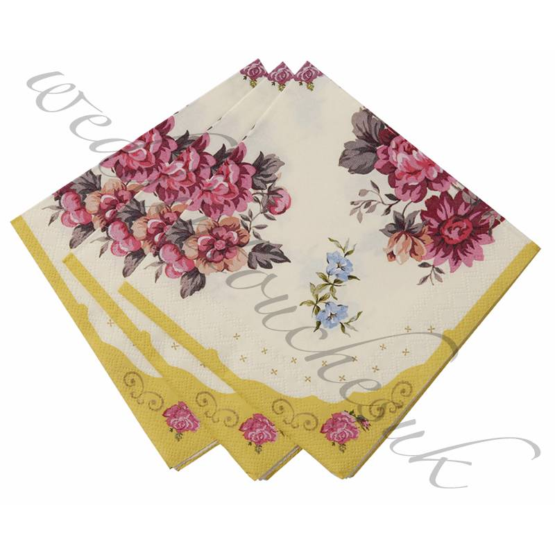 luxury paper napkins vintage style tea party accessories
