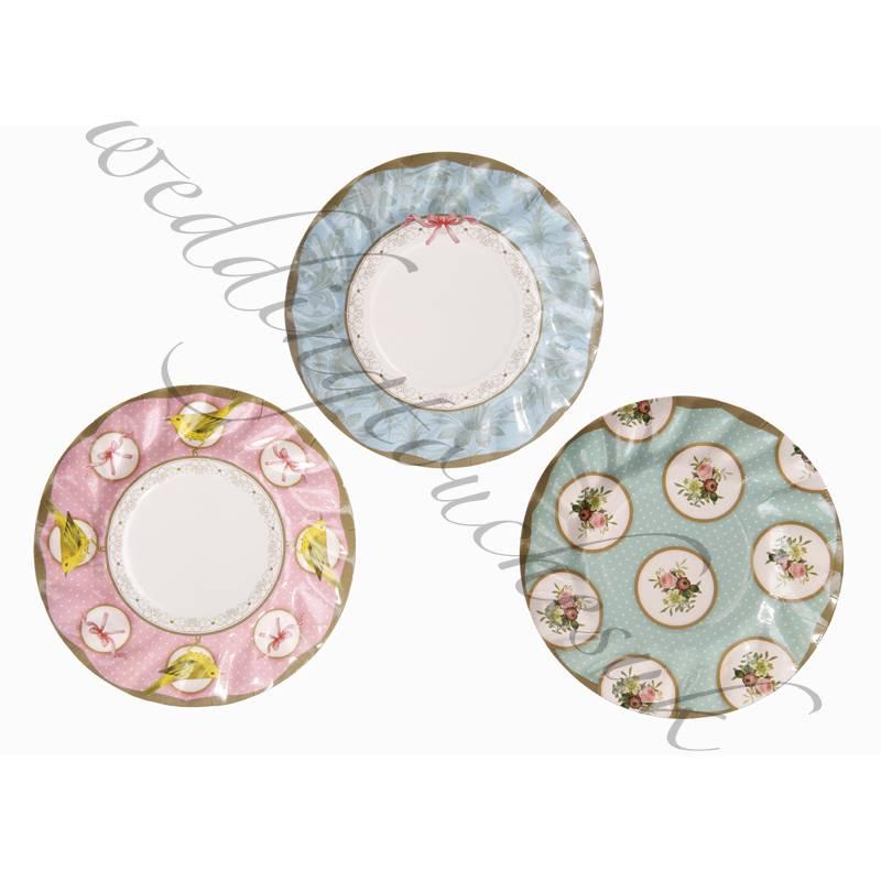 New Luxury Paper Plates Vintage Style Tea Party Plates Tea Party ...