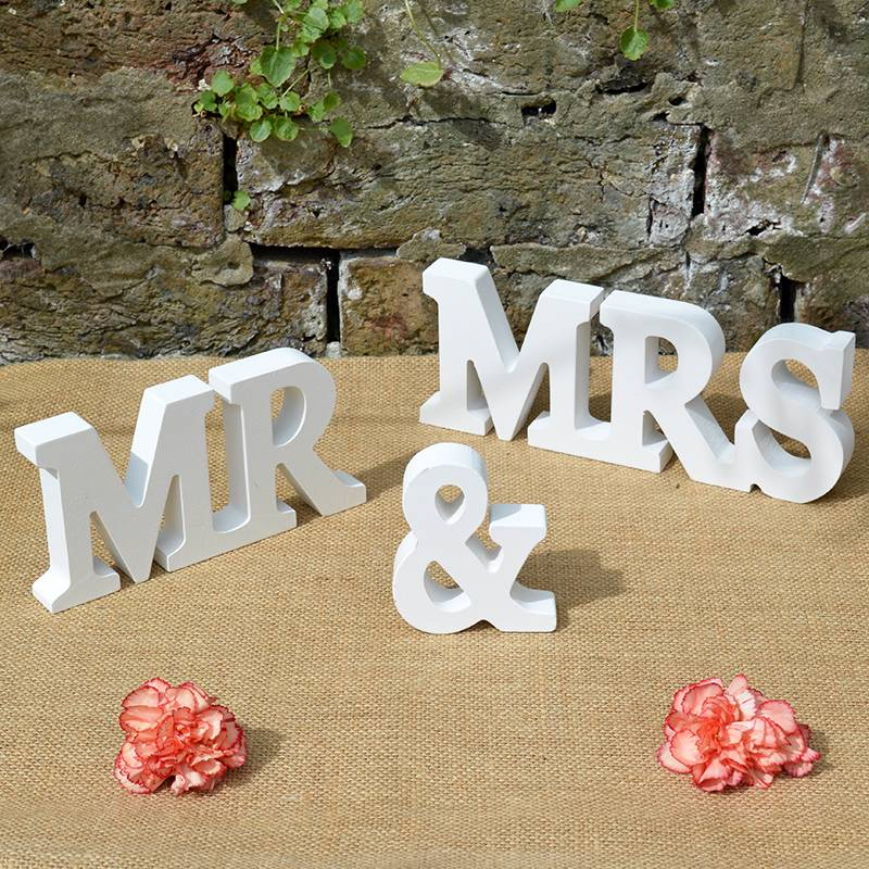 New Mr And Mrs Sign Mr & Mrs Letters Top Table Decoration Wedding Gift
