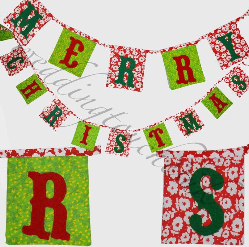 Merry-Christmas-Garland-Bunting-Banner-Christmas-Garland-Choice-Of-5-Home-Gift