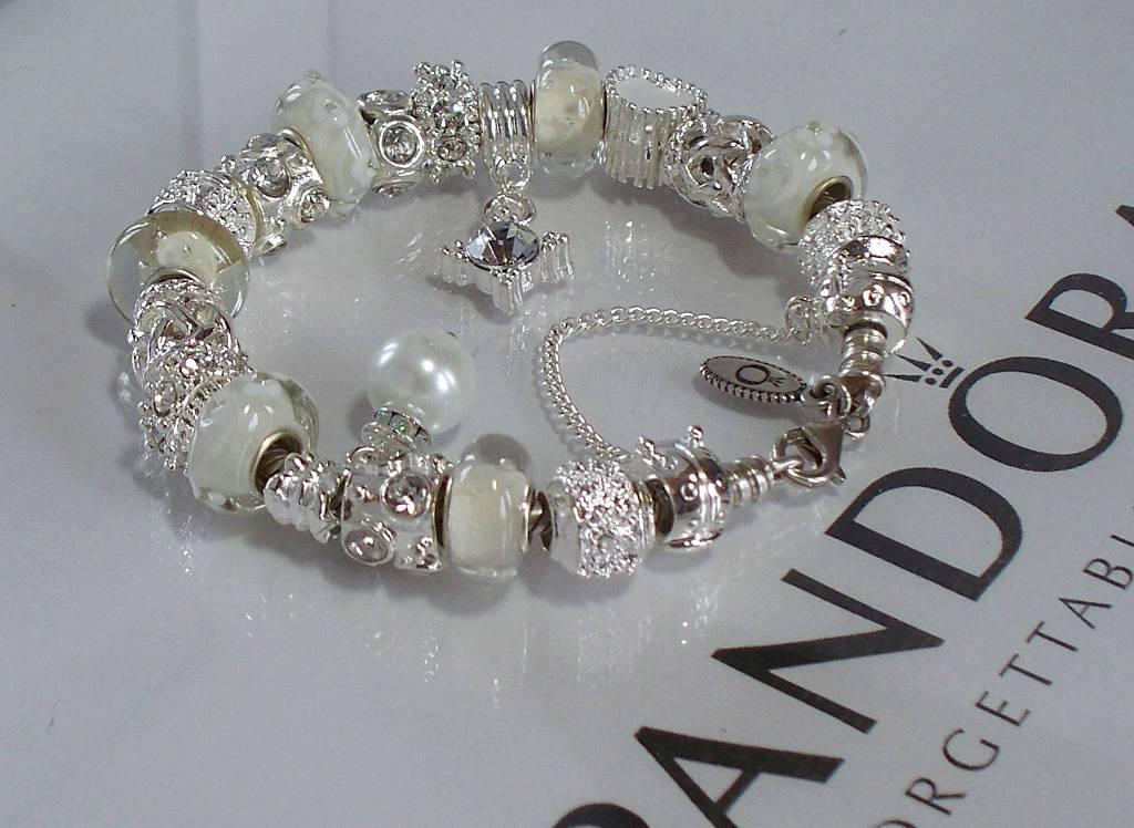 authentic pandora silver charm bracelet wedding