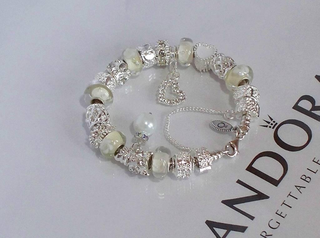 authentic pandora silver charm bracelet snow white wedding