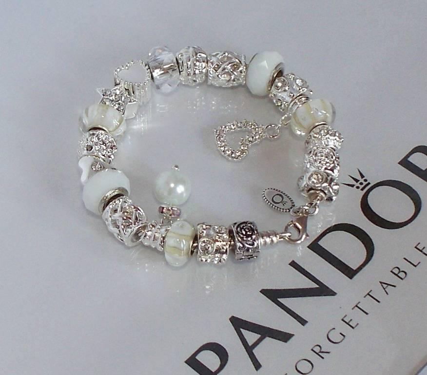 Pandora Silver Charm Bracelet Snow White Wedding Crystal Anniversary