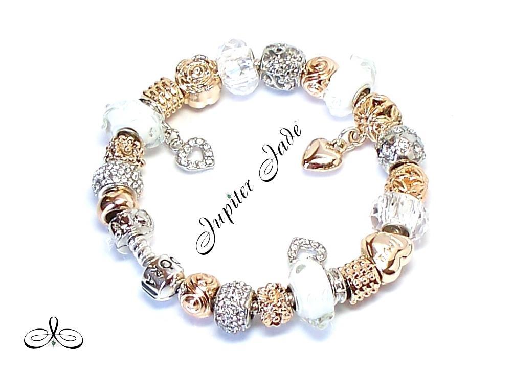 authentic pandora silver bracelet charm snow white