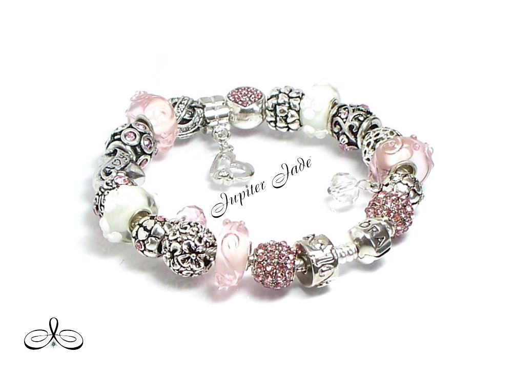 authentic pandora silver bracelet charms hearts