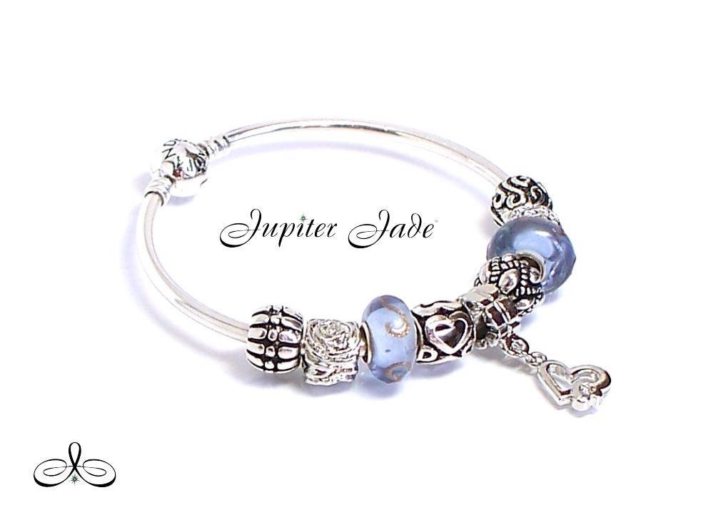 authentic pandora silver charm bracelet bangle european
