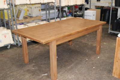 details about oak dining table extending rectangular