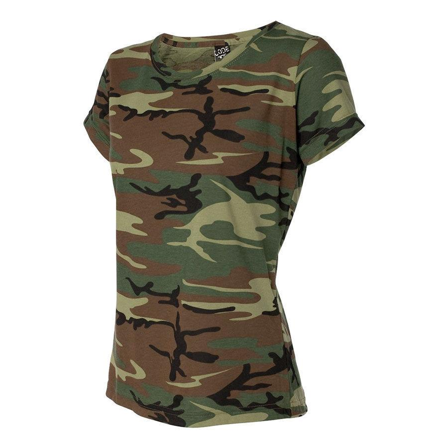 Camouflage Ladies Hunting Camo Tee Shirt Sm To 2xl 3665
