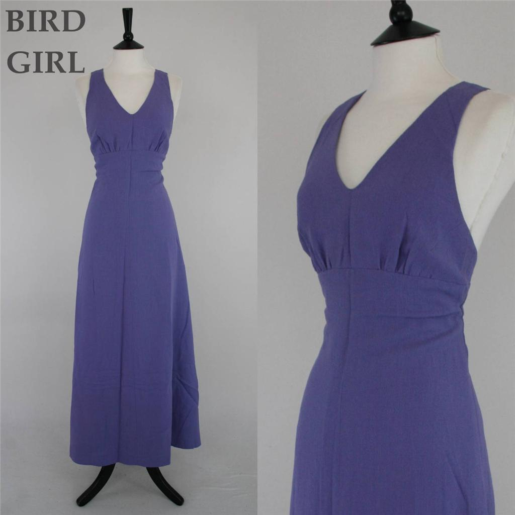 BOHO-CHIC-1970S-VINTAGE-LAVENDER-PURPLE-CREPE-LOW-BACK-MAXI-COLUMN-DRESS-10-S