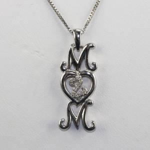 jane seymour open heart sterling silver diamond mom. Black Bedroom Furniture Sets. Home Design Ideas