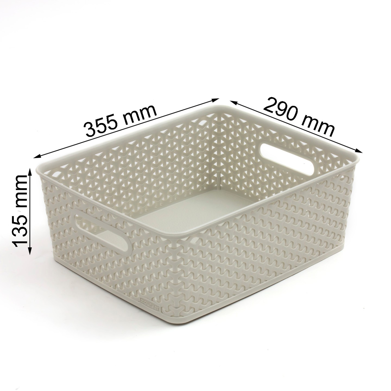 curver my style m size 13 ltr rattan storage box basket bin box 2 colours ebay. Black Bedroom Furniture Sets. Home Design Ideas