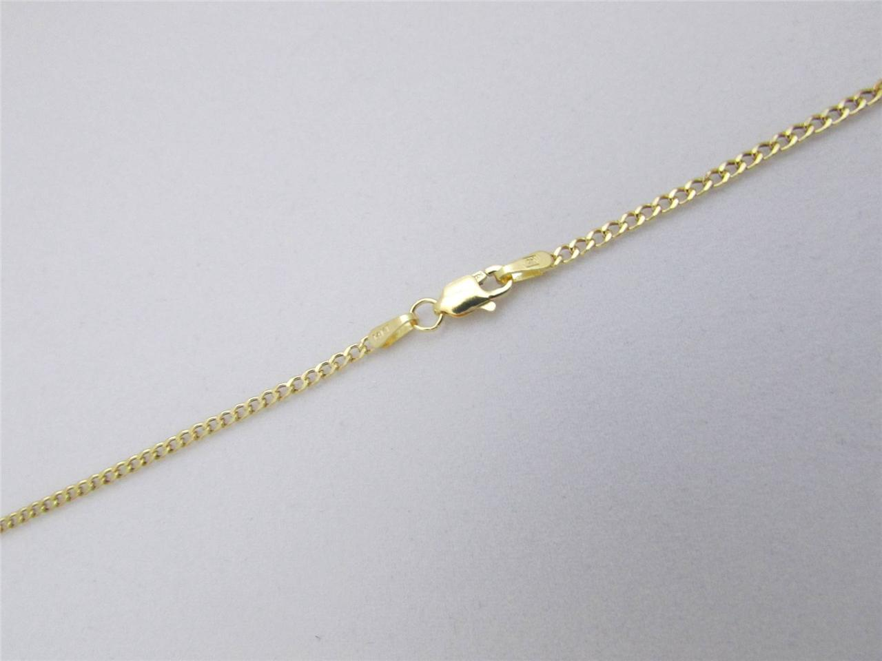 Solid 14kt yellow gold necklace Gold chain box figaro Cuban Curb