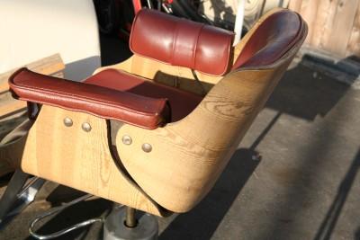 Belvedere 30 Barber Salon Chair Mid Century Modern British Tan Hydraulic Base