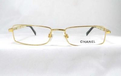 Chanel White Eyeglass Frames : CHANEL Glasses Spectacles Frames 2130-Q c.125 Gold White ...