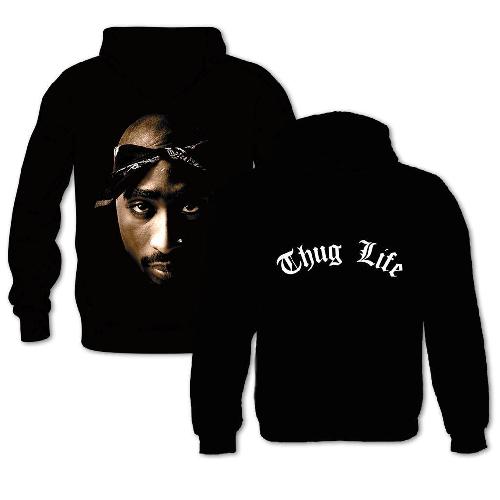 Red alert mens womens hoodie featuring tupac shakur 2pac hip hop music