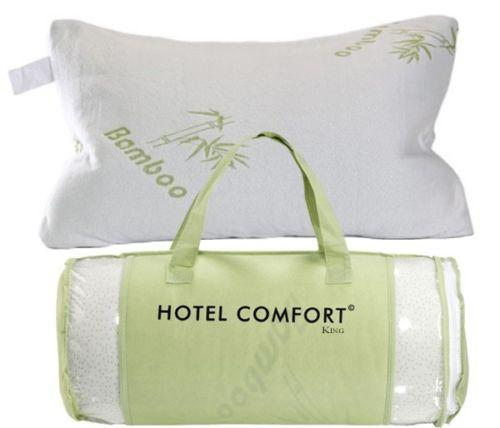 Hotel comfort hypoallergenic bamboo memory foam pillow for Comfort inn pillows to purchase