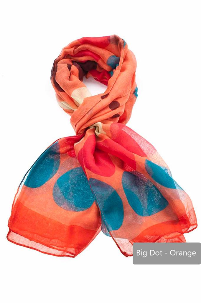 Fashion-Woman-Long-Over-Size-Polka-dot-Spotted-Printed-Scarf-Scarves