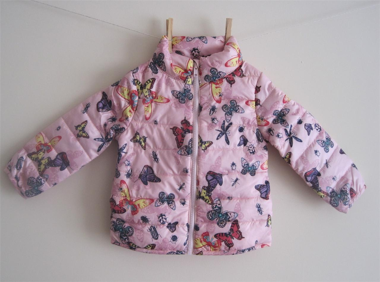 Girls-ex-h-m-butterfly-light-padded-coat-jacket-age-18-24-2-3-4-5-5-6-6-7-7-8