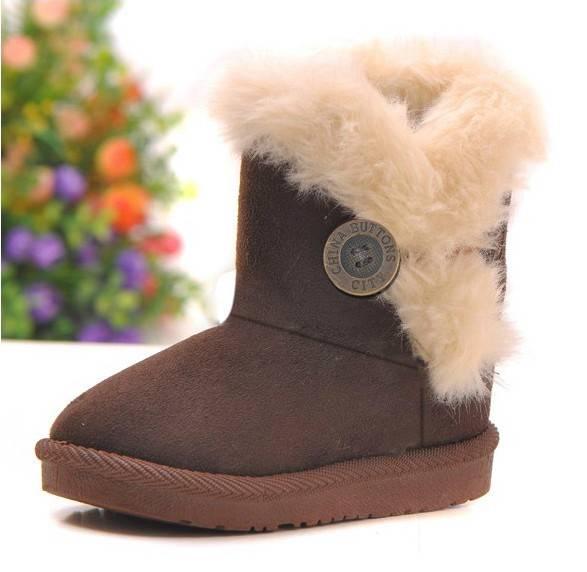 Fashion Girl's  Kid's Cute Warm Winter Mid Calf Snow Boots Shoes Sz 8-10.5