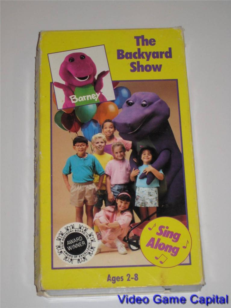 details about barney the backyard show sing along vhs vintage