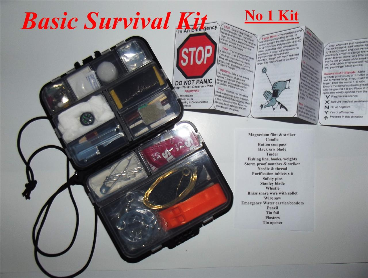 Basic survival kit camping fishing outdoor bushcraft for Survival fishing kit