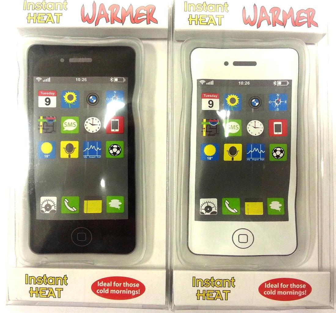 Cell Phone Warmer ~ Reusable iphone mobile phone shape gel handwarmer instant