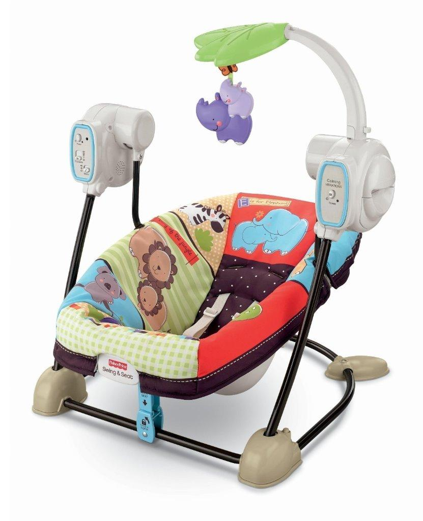 Fisher Price Spacesaver Swing & Seat Animals Deluxe Take ...
