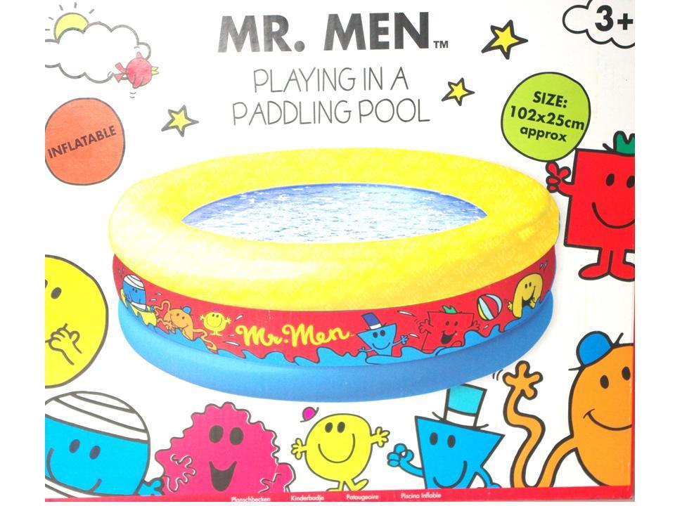 Mr Men Little Miss Childrens Toddler Inflatable Paddling Swimming Pool New Ebay