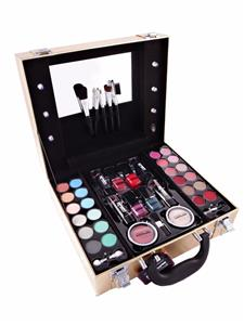 Makeup Vanity Light Kit : Make up Vanity Box Case Contouring Beauty Kit Gift Set Mirror & Light Storage eBay