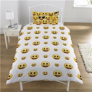 Emoji jaune visages souriants motions simple set couvre for Housse de couette traduction