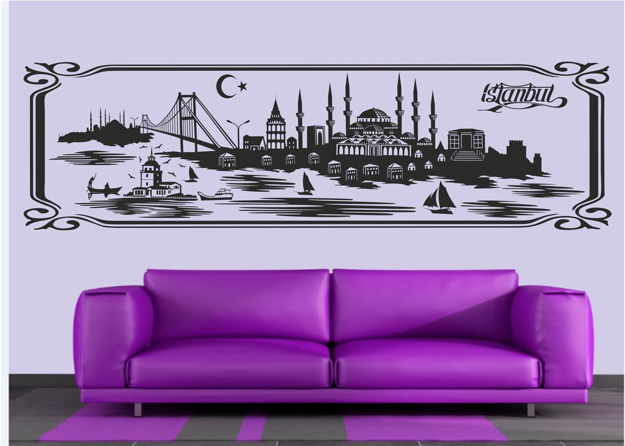 wandtattoo istanbul galatasaray fenerbahce besiktas. Black Bedroom Furniture Sets. Home Design Ideas