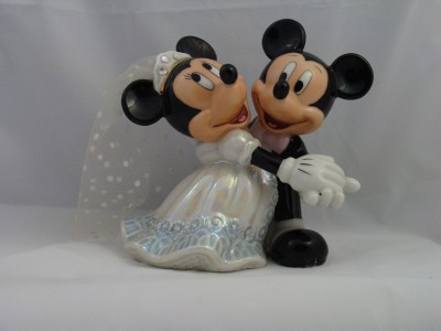 DISNEY MICKEY AND MINNIE MOUSE WEDDING CAKE TOPPER
