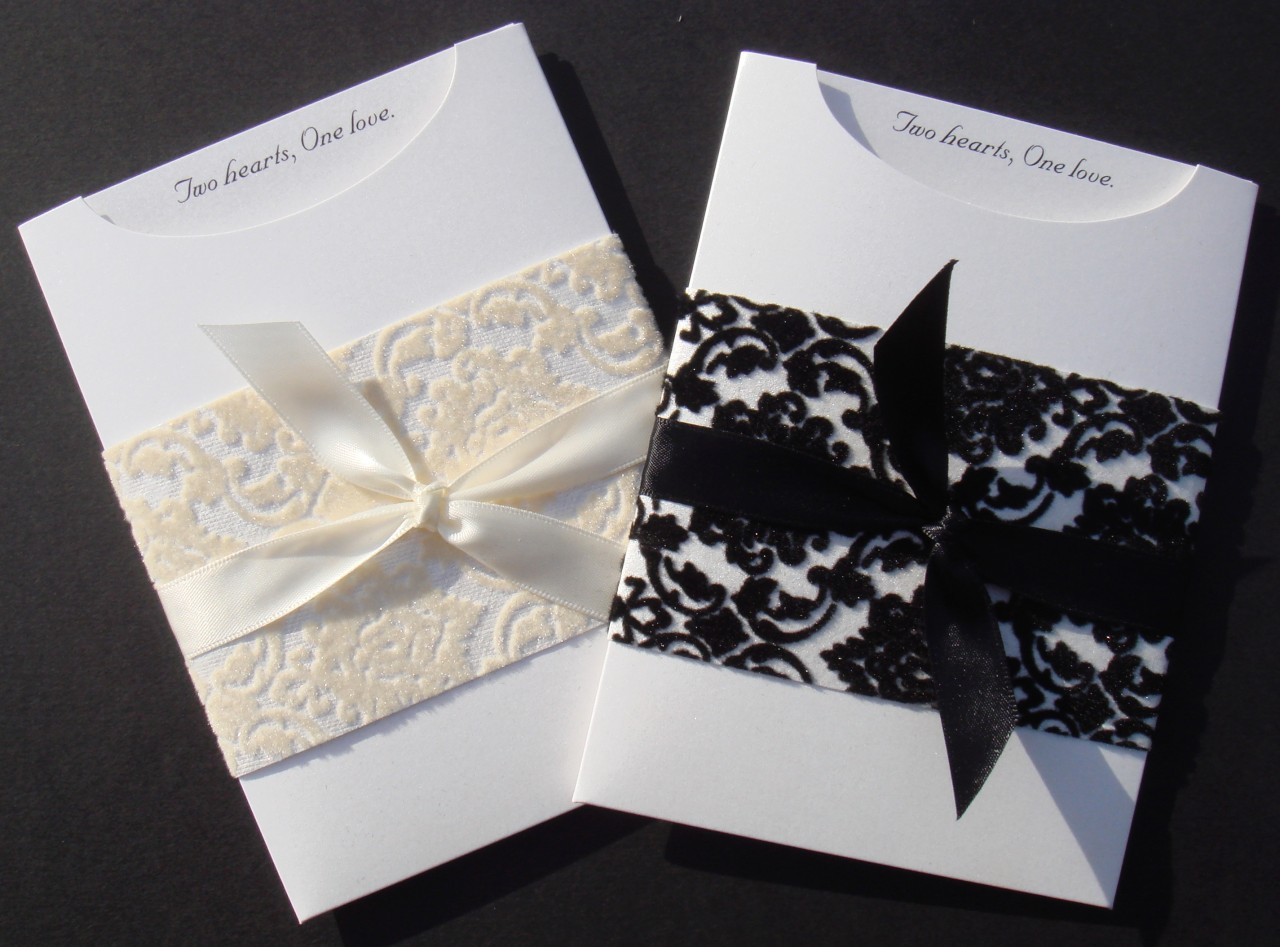 Elegant wedding invitation diy kit christina pocket invite 25 pcs