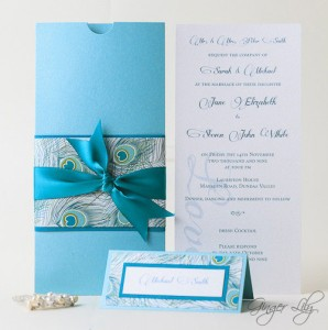 Elegant PEACOCK Design Wedding Invitation DIY Kit ~ Makes ...